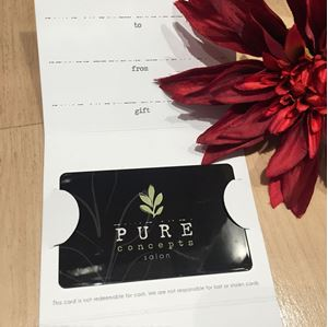 Picture of Pure Concepts Salon Gift Card-$25