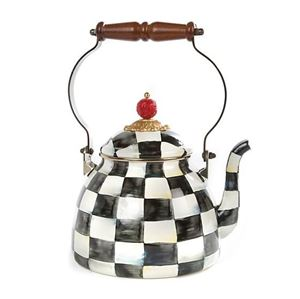 Picture of MacKenzie-Childs Courtley Check Tea Kettle
