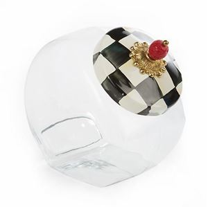 Picture of MacKenzie-Childs Cookie Jar with Courtly Check Lid