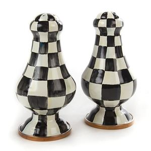 Picture of MacKenzie-Childs Courtly Check Salt & Pepper Set
