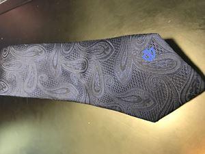 Picture of Tie: Dark Navy Paisley