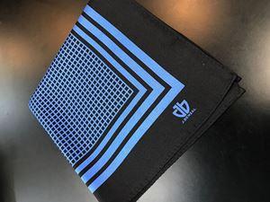 Picture of Blue & Black Pocket Square