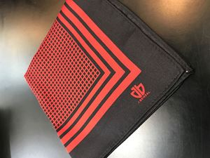 Picture of Red & Black Pocket Square