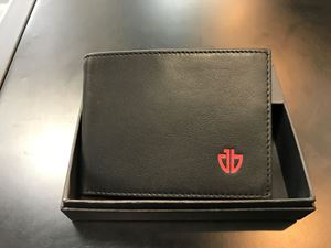 Picture of Wallet: Black & Burgandy Fold