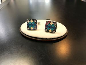 Picture of Silver & Blue Cufflinks