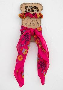 Picture of Bandana Scrunchie Pink/Mustard