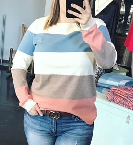 Picture of Strip Round Neck Sweater