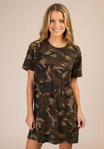 Picture of Side Trim Tee Dress Camo