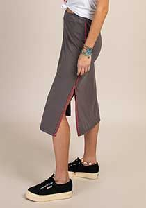 Picture of Side Slit Skirt Gray