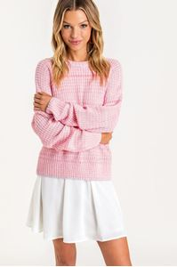 Picture of Rounds Neck Knit Sweater Pink