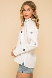Picture of Star Embroidered Button Down