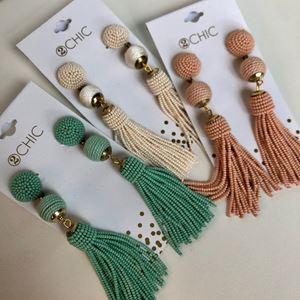 Picture of Beaded Tassel Earrings