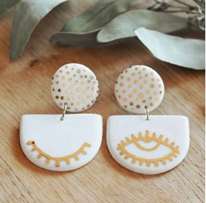 Picture of j: Ceramic Wink Earrings