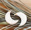 Picture of j: Ceramic Moon Earrings