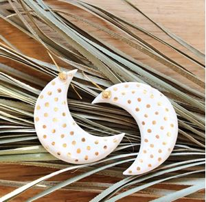 Picture of j: Ceramic Moon Earrings
