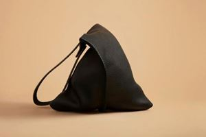 Picture of ac: Leather Wedge Tote in Black