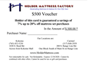 Picture of Voucher for Mattress Set