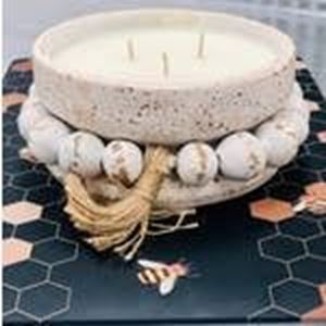 Picture of Wick Handmade Clay Pottery Candle