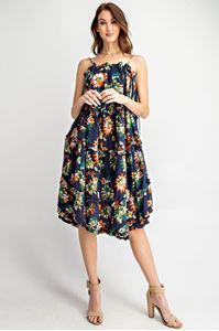 Picture of Faded Navy Midi Dress