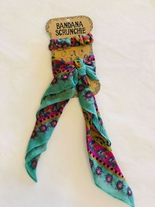 Picture of Bandana Scrunchie teal
