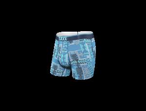 Picture of Saxx Quest Boxer Briefs - Blue Patchwork