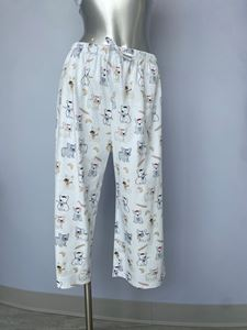 Picture of Cotn Frenchie Print Capri Pant