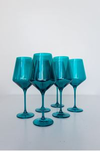 Picture of Estelle Colored Glass - Emerald Green Set