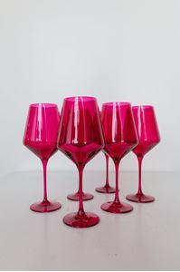 Picture of Estelle Colored Glass- Fuchsia Set