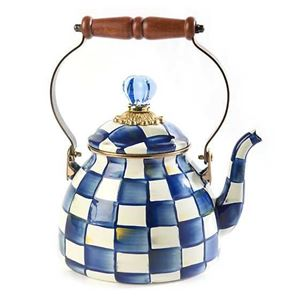 Picture of MacKenzie-Childs Royal Check Tea Kettle