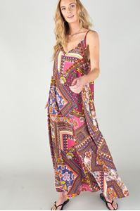 Picture of Multi Pattern Maxi Dress