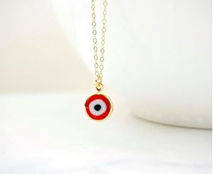 Picture of j: Red Evil Eye Necklace