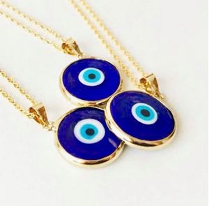 Picture of j: Blue Evil Eye Necklace